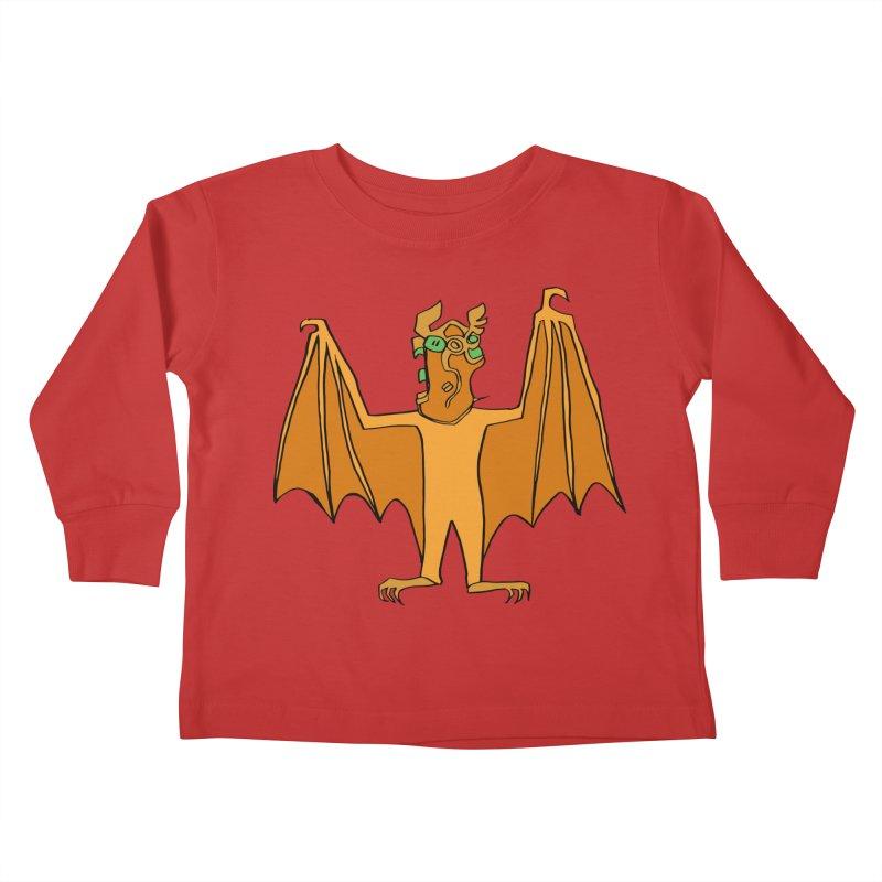 Demon Bat Kids Toddler Longsleeve T-Shirt by RiffTrax on Threadless!