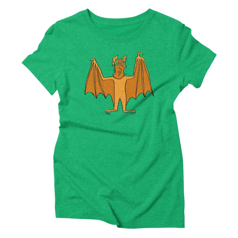 Demon Bat Women's Triblend T-Shirt by RiffTrax on Threadless!