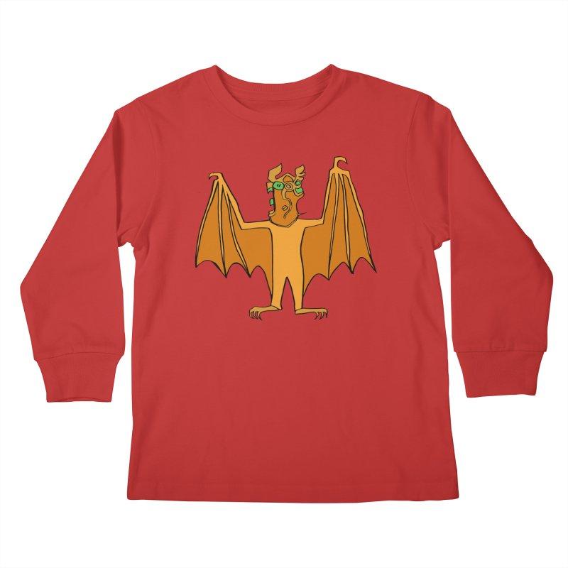 Demon Bat Kids Longsleeve T-Shirt by RiffTrax on Threadless!