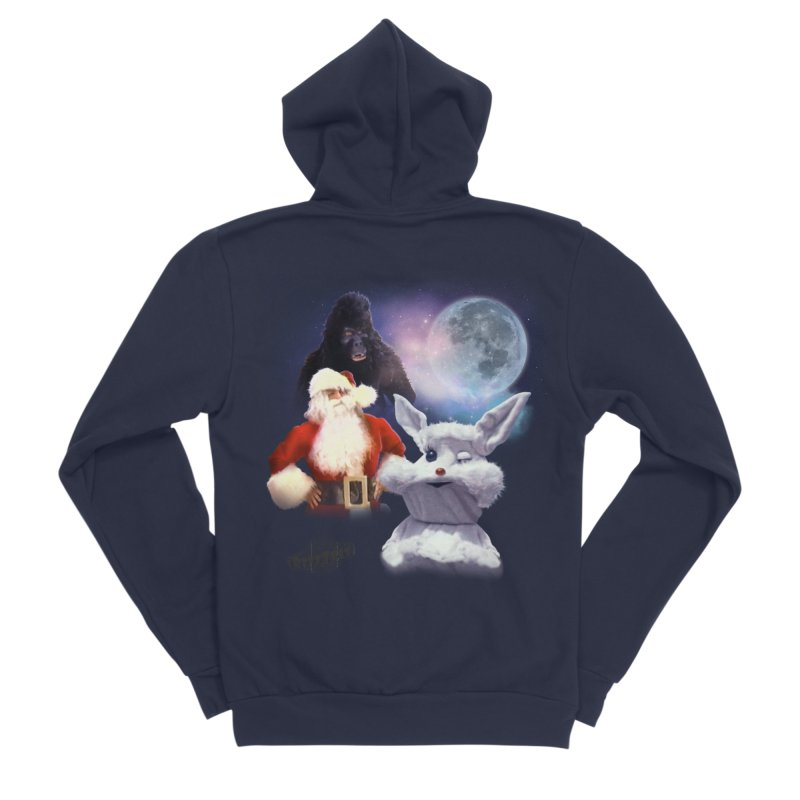 Three Hurr Moon Women's Sponge Fleece Zip-Up Hoody by RiffTrax on Threadless!