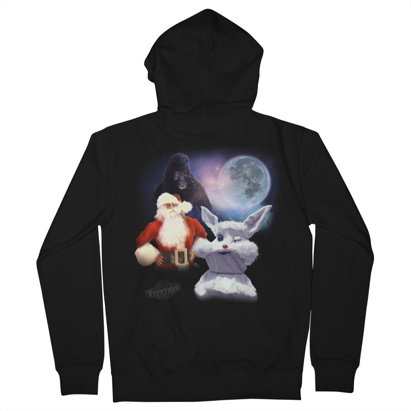 Three Hurr Moon Women's French Terry Zip-Up Hoody by RiffTrax on Threadless!