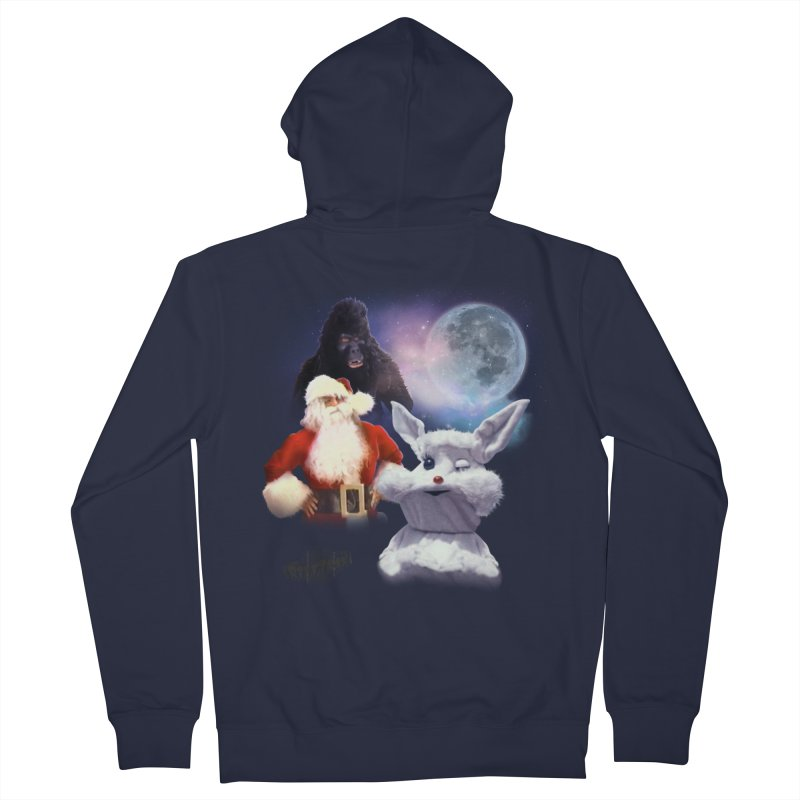Three Hurr Moon Men's French Terry Zip-Up Hoody by RiffTrax on Threadless!
