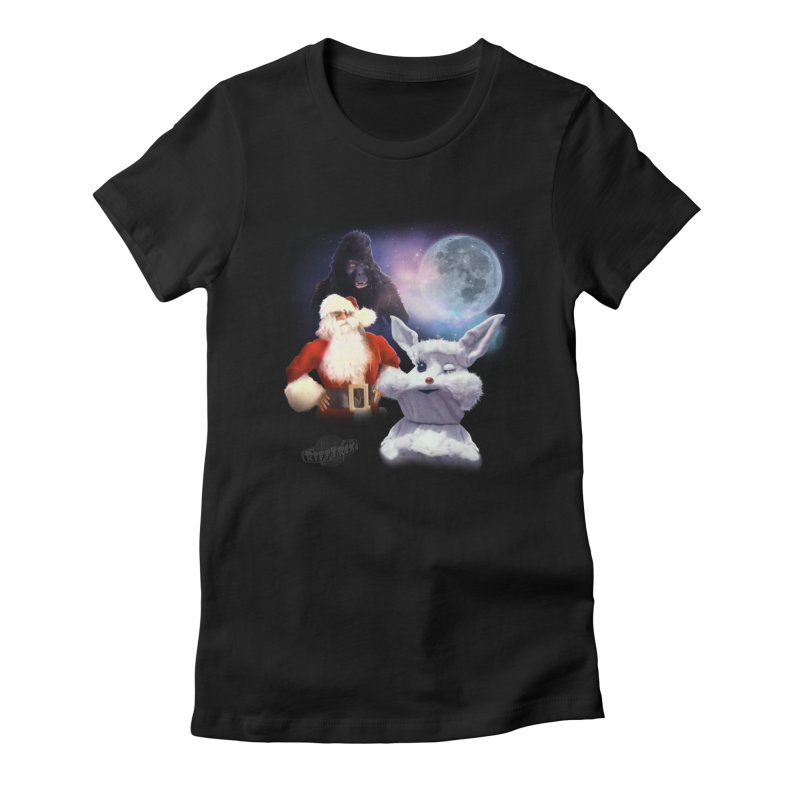 Three Hurr Moon Women's Fitted T-Shirt by RiffTrax on Threadless!