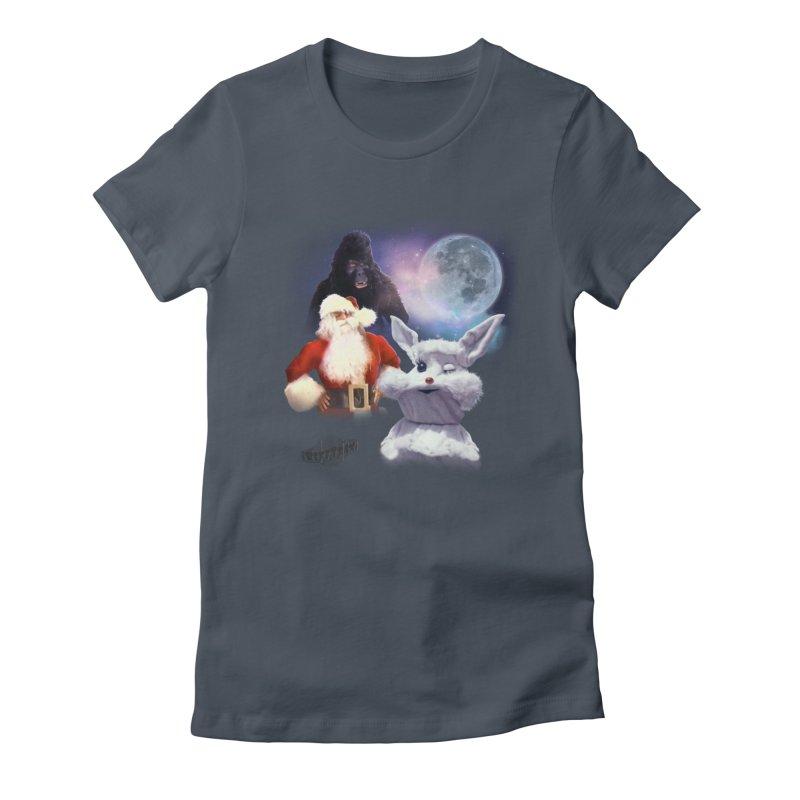 Three Hurr Moon Women's Fitted T-Shirt by RiffTrax on Threadless!