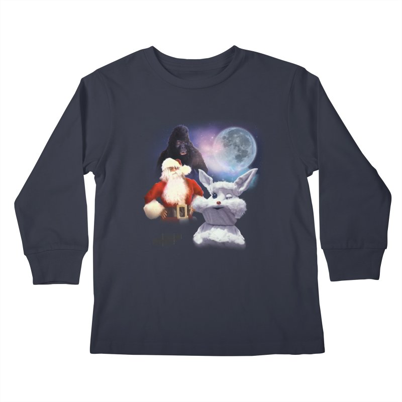 Three Hurr Moon Kids Longsleeve T-Shirt by RiffTrax on Threadless!