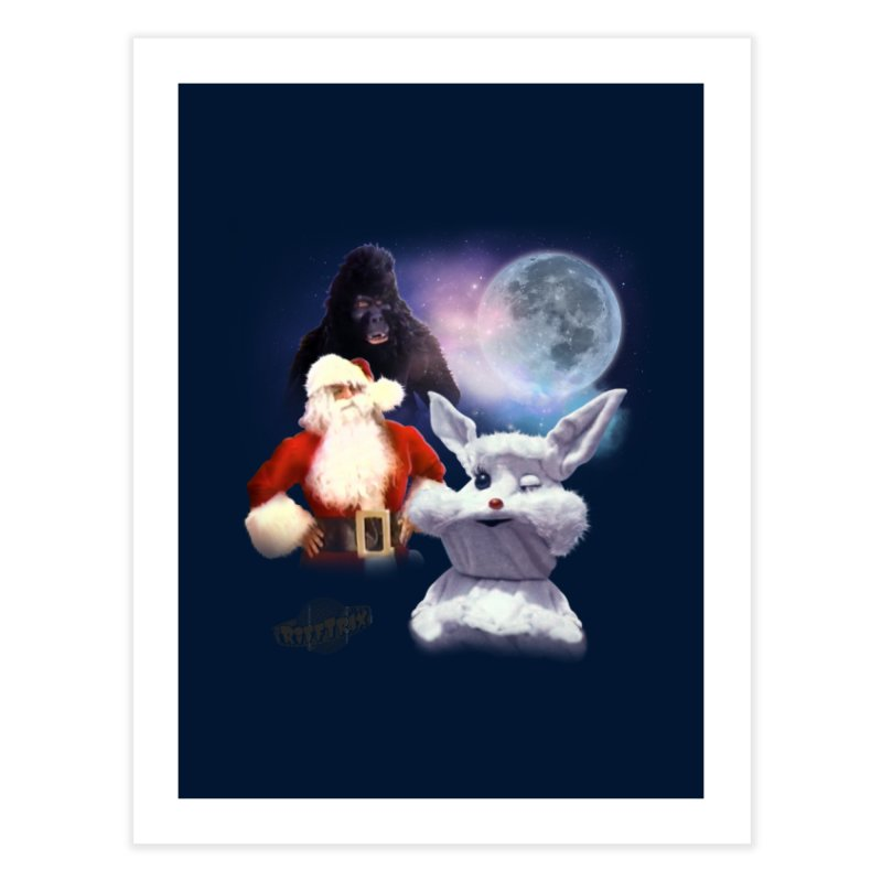 Three Hurr Moon Home Fine Art Print by RiffTrax on Threadless!