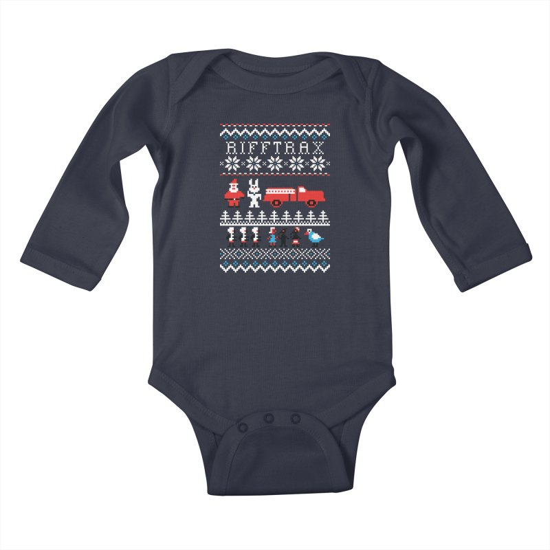 RiffTrax Ice Cream Bunny Ugly Shirt Kids Baby Longsleeve Bodysuit by RiffTrax on Threadless!