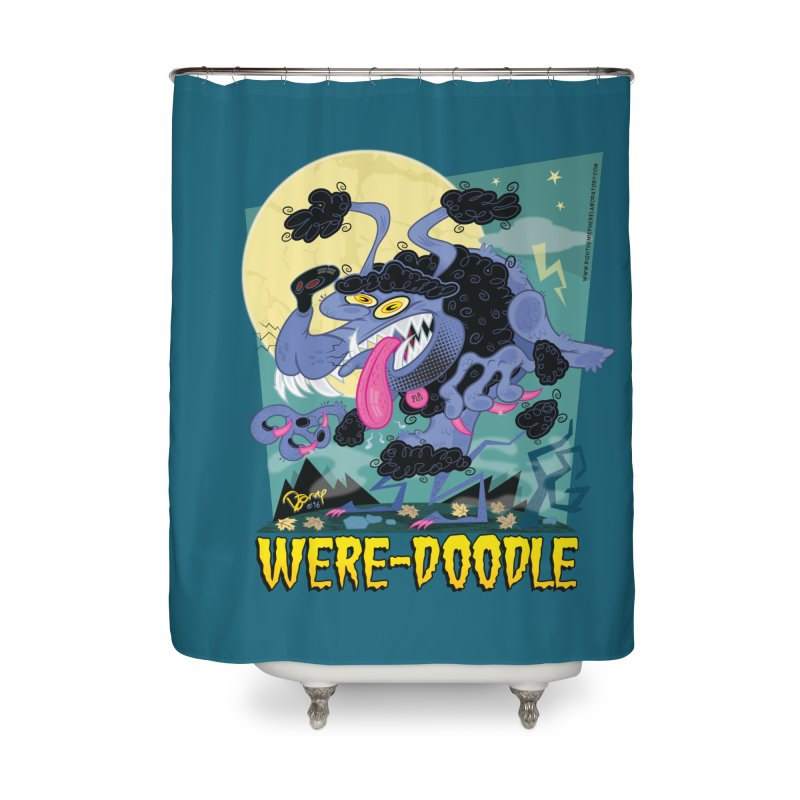 Were-Doodle Home Shower Curtain by righthemispherelaboratory's Shop