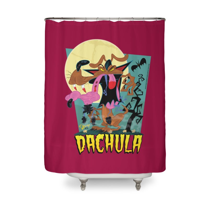Dachula Home Shower Curtain by righthemispherelaboratory's Shop