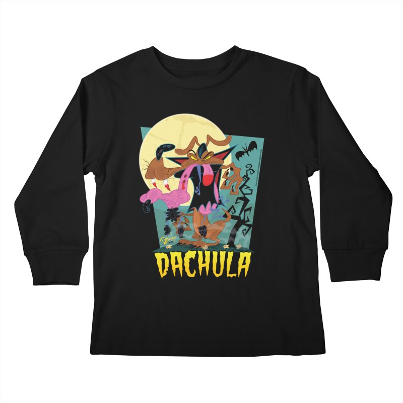 Dachula Kids Longsleeve T-Shirt by righthemispherelaboratory's Shop