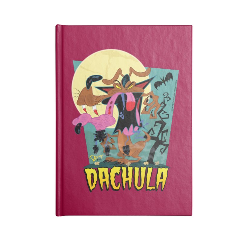 Dachula Accessories Blank Journal Notebook by righthemispherelaboratory's Shop