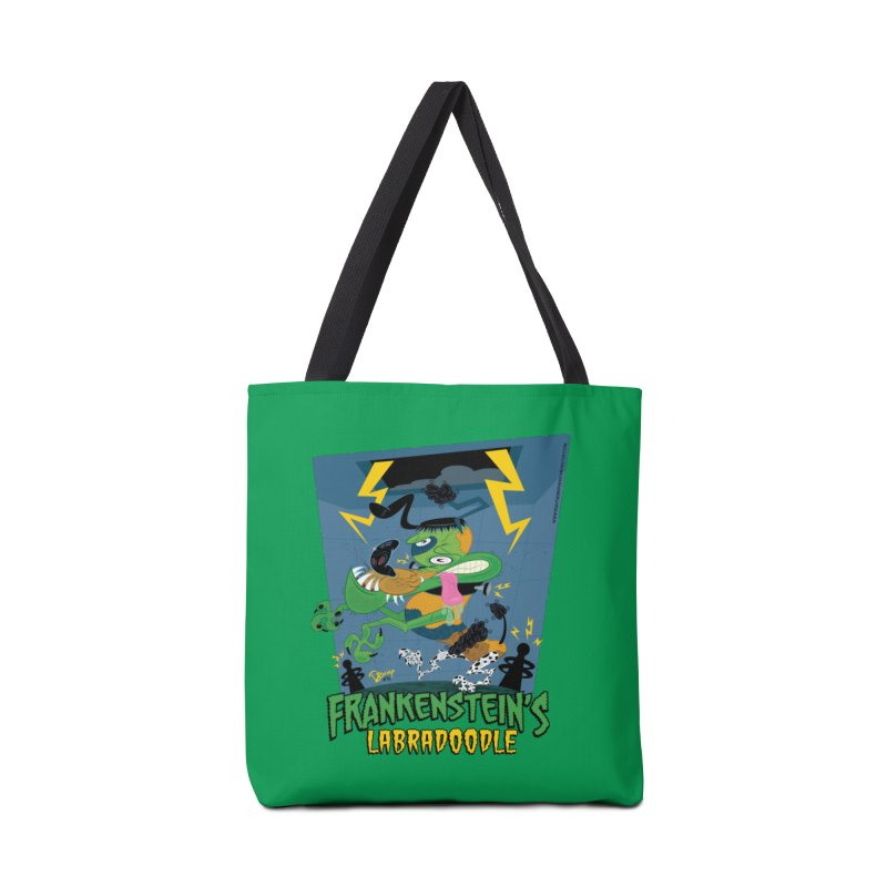 Frankenstein's Labradoodle Accessories Tote Bag Bag by righthemispherelaboratory's Shop