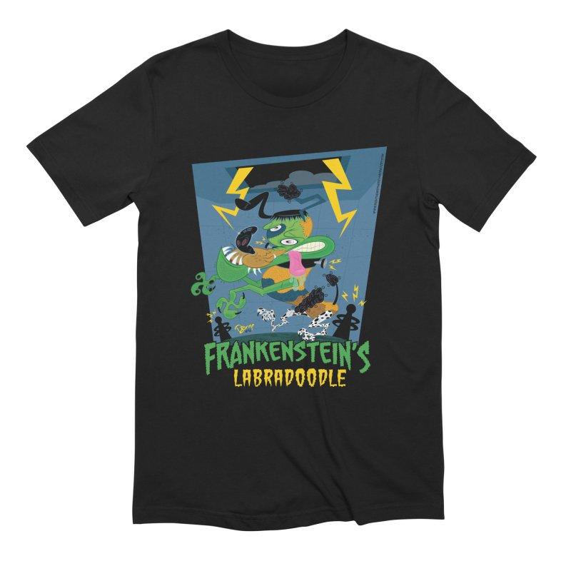 Frankenstein's Labradoodle Men's T-Shirt by righthemispherelaboratory's Shop