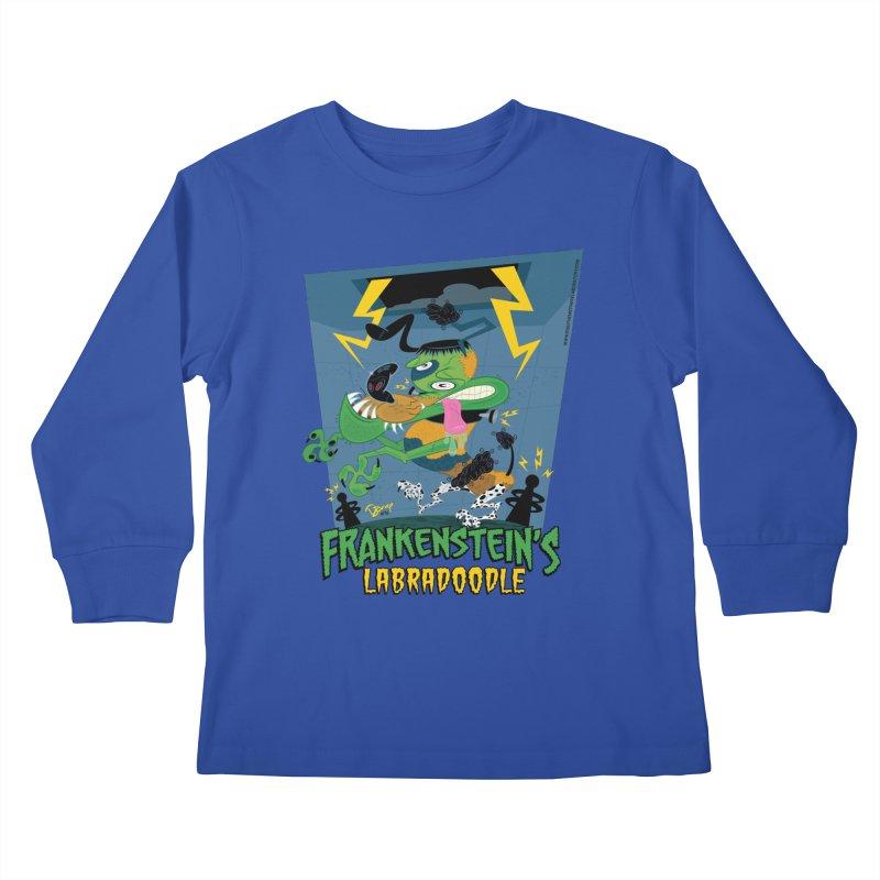 Frankenstein's Labradoodle Kids Longsleeve T-Shirt by righthemispherelaboratory's Shop