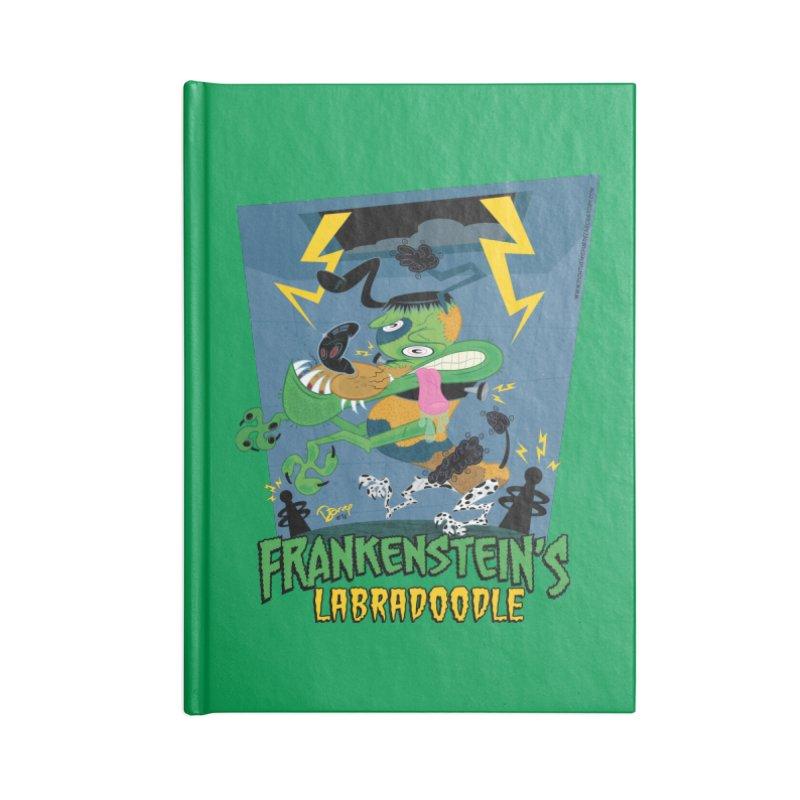 Frankenstein's Labradoodle Accessories Blank Journal Notebook by righthemispherelaboratory's Shop