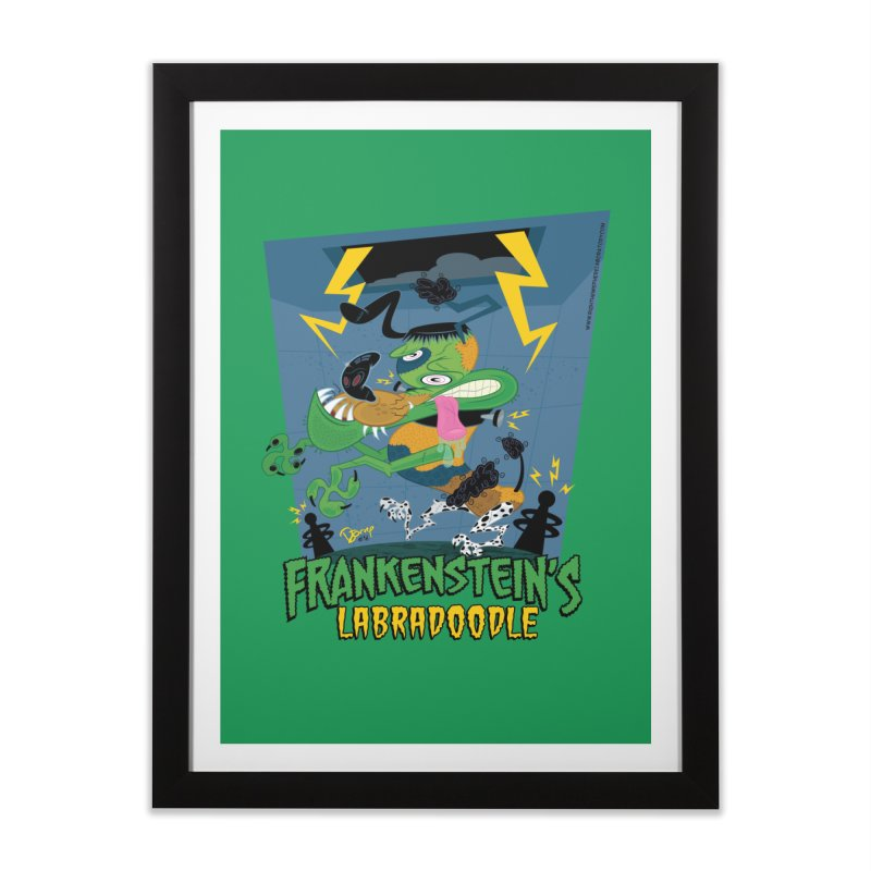 Frankenstein's Labradoodle Home Framed Fine Art Print by righthemispherelaboratory's Shop