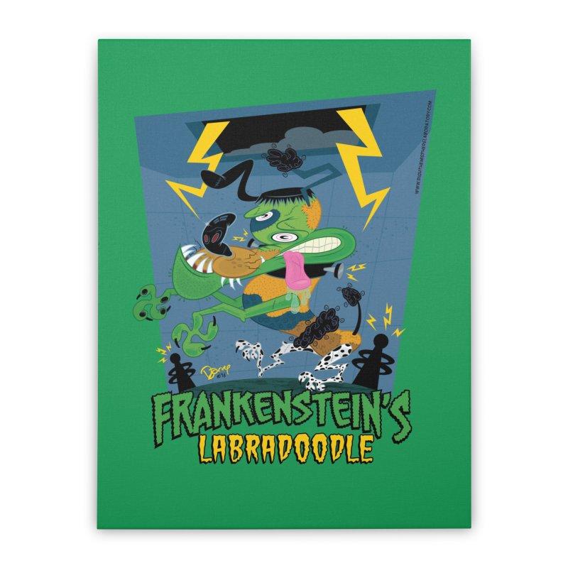 Frankenstein's Labradoodle Home Duvet by righthemispherelaboratory's Shop