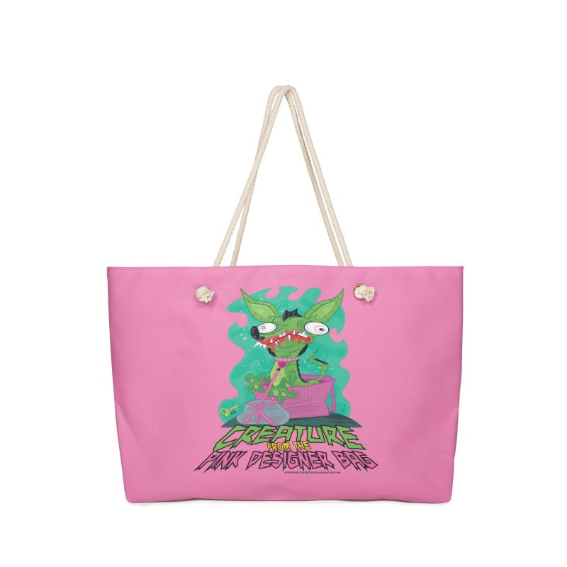 Creature from the Pink Designer Bag Accessories Bag by righthemispherelaboratory's Shop
