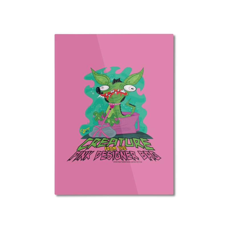 Creature from the Pink Designer Bag Home Mounted Aluminum Print by righthemispherelaboratory's Shop