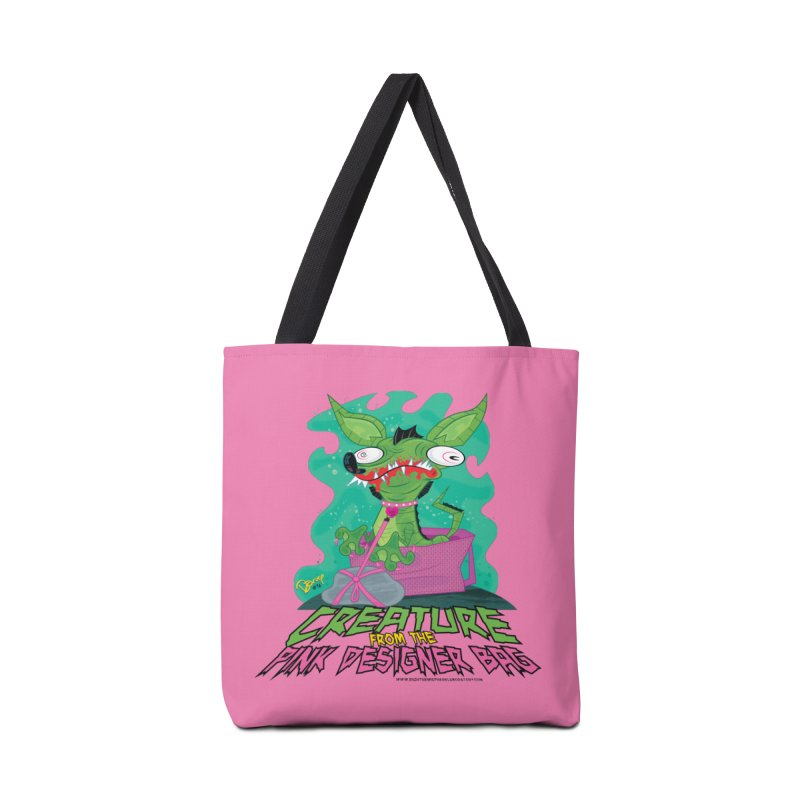 Creature from the Pink Designer Bag Accessories Tote Bag Bag by righthemispherelaboratory's Shop