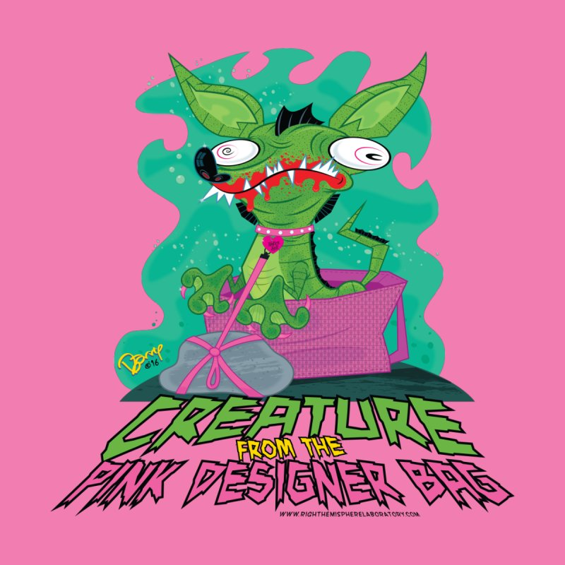 Creature from the Pink Designer Bag Women's T-Shirt by righthemispherelaboratory's Shop