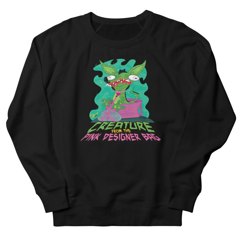 Creature from the Pink Designer Bag Women's Sweatshirt by righthemispherelaboratory's Shop
