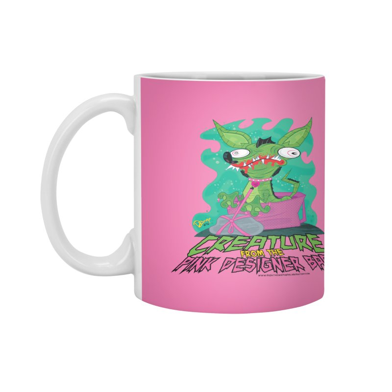 Creature from the Pink Designer Bag Accessories Mug by righthemispherelaboratory's Shop