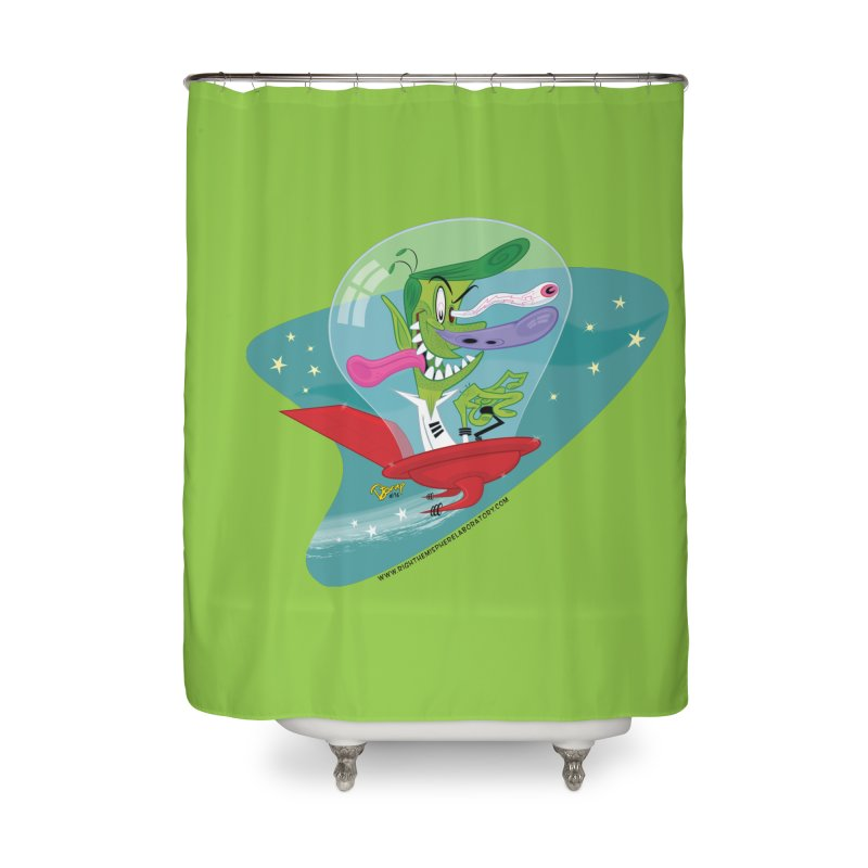 Jet Fink Home Shower Curtain by righthemispherelaboratory's Shop