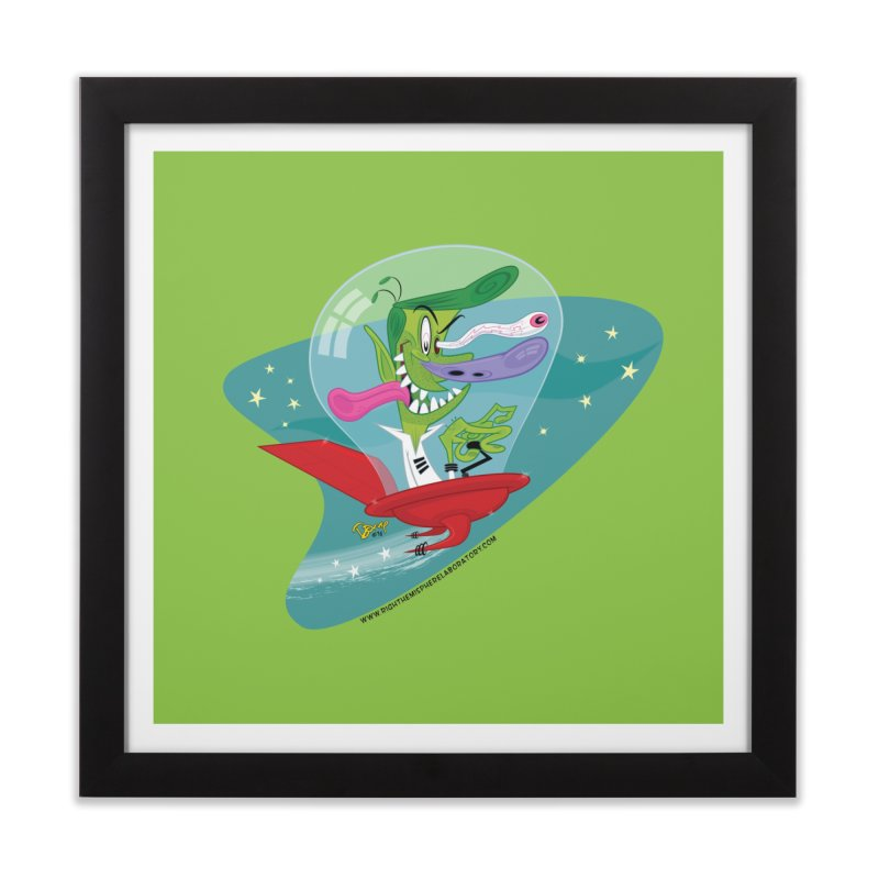 Jet Fink Home Framed Fine Art Print by righthemispherelaboratory's Shop