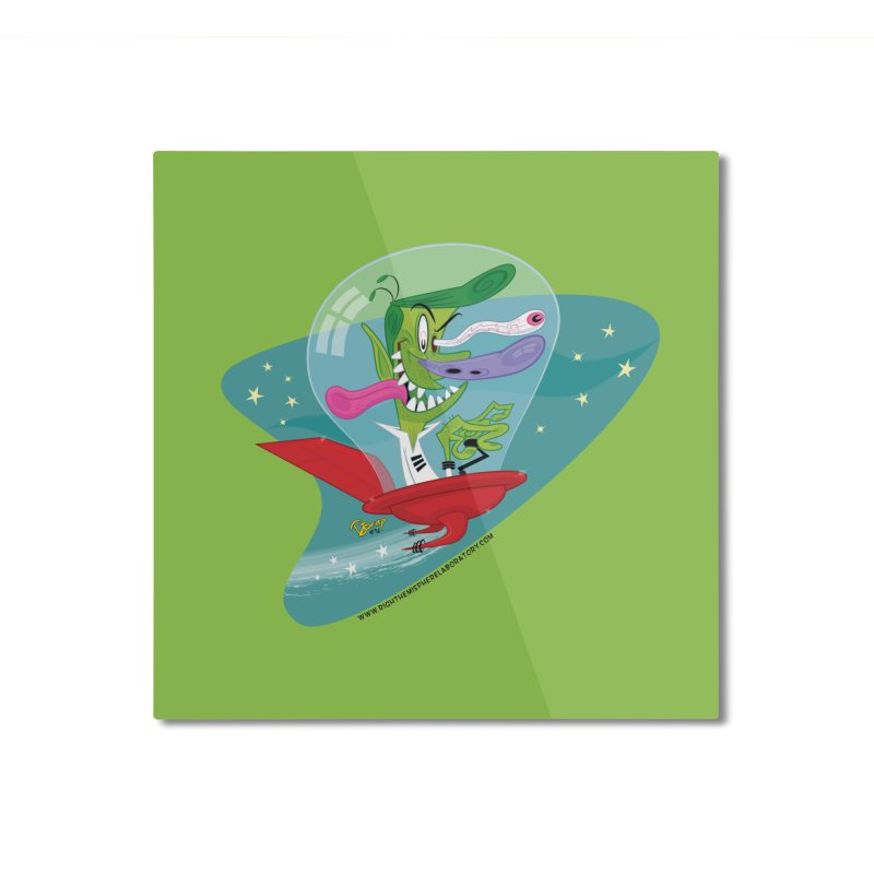Jet Fink Home Mounted Aluminum Print by righthemispherelaboratory's Shop