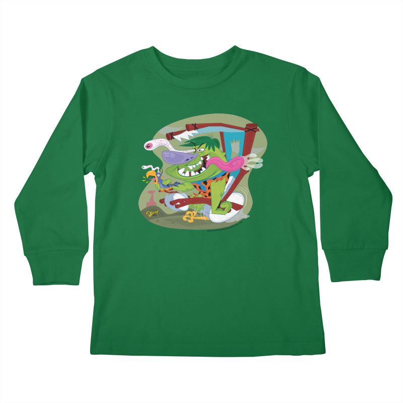 Fink-Stone Kids Longsleeve T-Shirt by righthemispherelaboratory's Shop