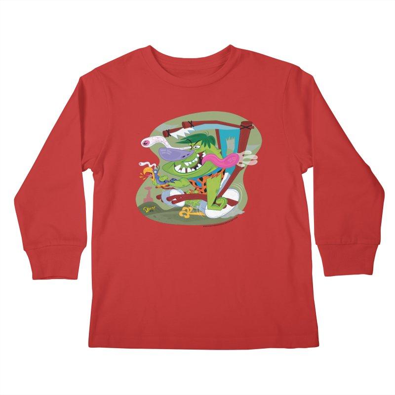 Fink-Stone Kids Longsleeve T-Shirt by righthemispherelaboratory's Shop