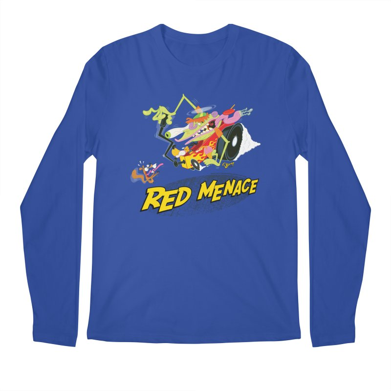 Red Menace Men's Regular Longsleeve T-Shirt by righthemispherelaboratory's Shop