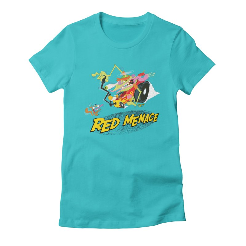 Red Menace Women's Fitted T-Shirt by righthemispherelaboratory's Shop