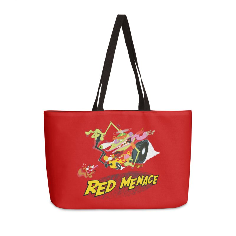 Red Menace Accessories Bag by righthemispherelaboratory's Shop