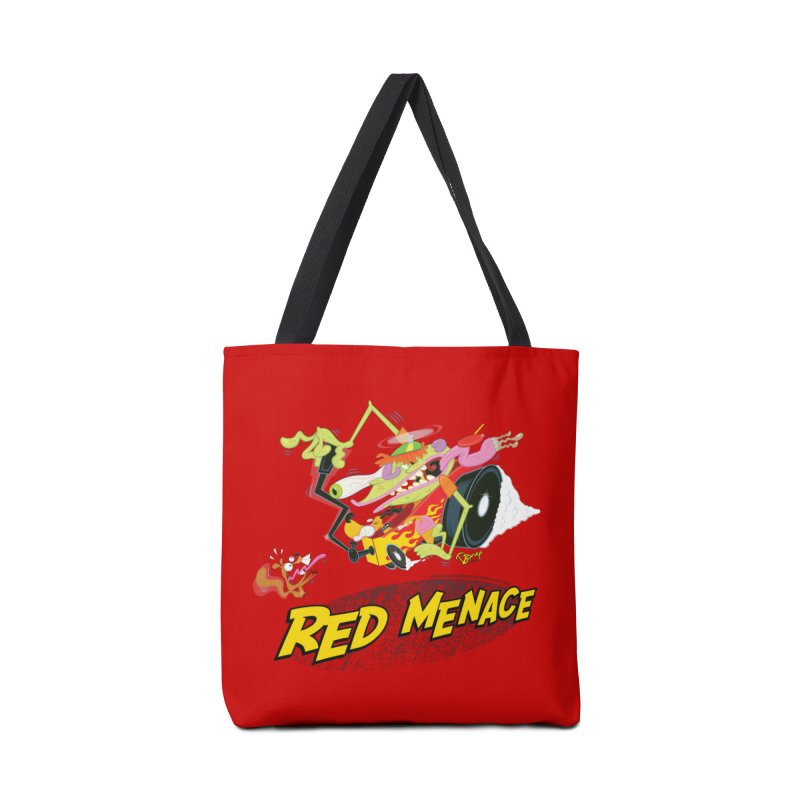 Red Menace Accessories Tote Bag Bag by righthemispherelaboratory's Shop