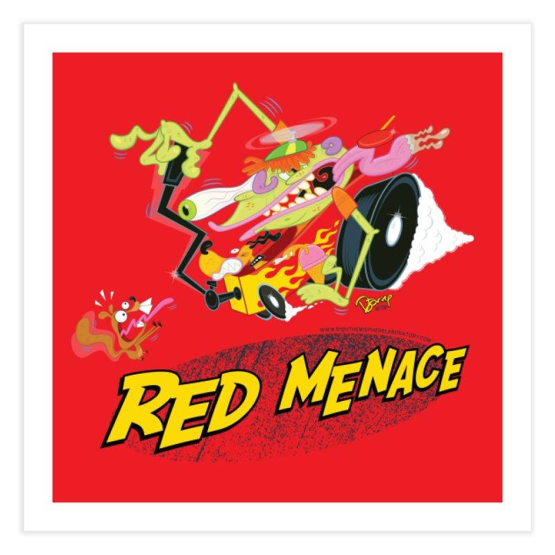 Red Menace Home Fine Art Print by righthemispherelaboratory's Shop