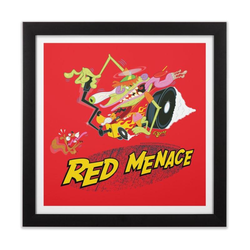 Red Menace Home Framed Fine Art Print by righthemispherelaboratory's Shop