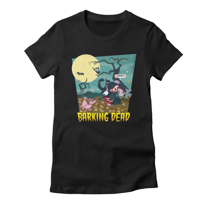 Barking Dead Women's Fitted T-Shirt by righthemispherelaboratory's Shop