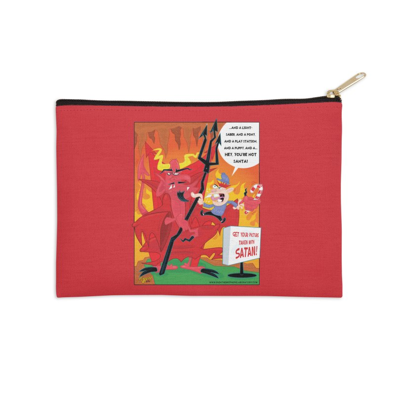 Not Santa Accessories Zip Pouch by righthemispherelaboratory's Shop