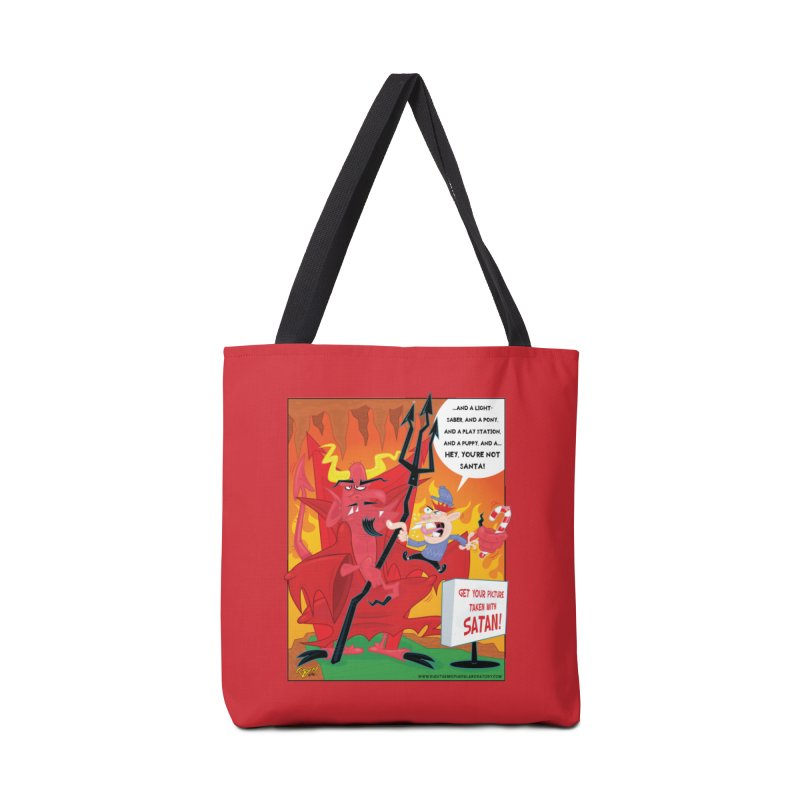 Not Santa Accessories Tote Bag Bag by righthemispherelaboratory's Shop