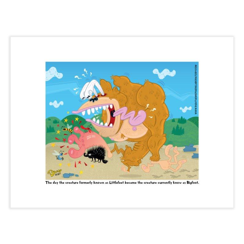 How Bigfoot Got His Big Foot Home Fine Art Print by righthemispherelaboratory's Shop