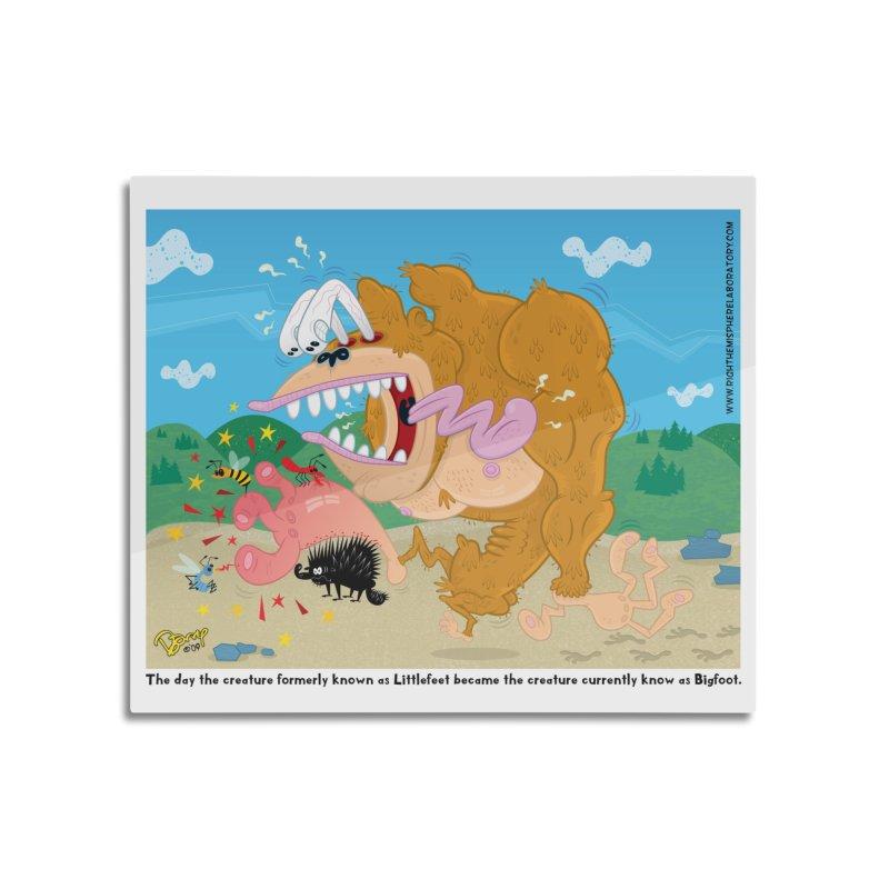 How Bigfoot Got His Big Foot Home Mounted Aluminum Print by righthemispherelaboratory's Shop