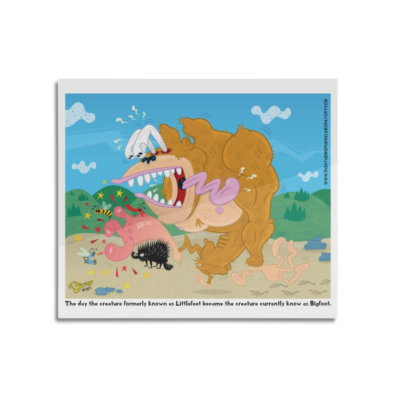 How Bigfoot Got His Big Foot Home Mounted Acrylic Print by righthemispherelaboratory's Shop