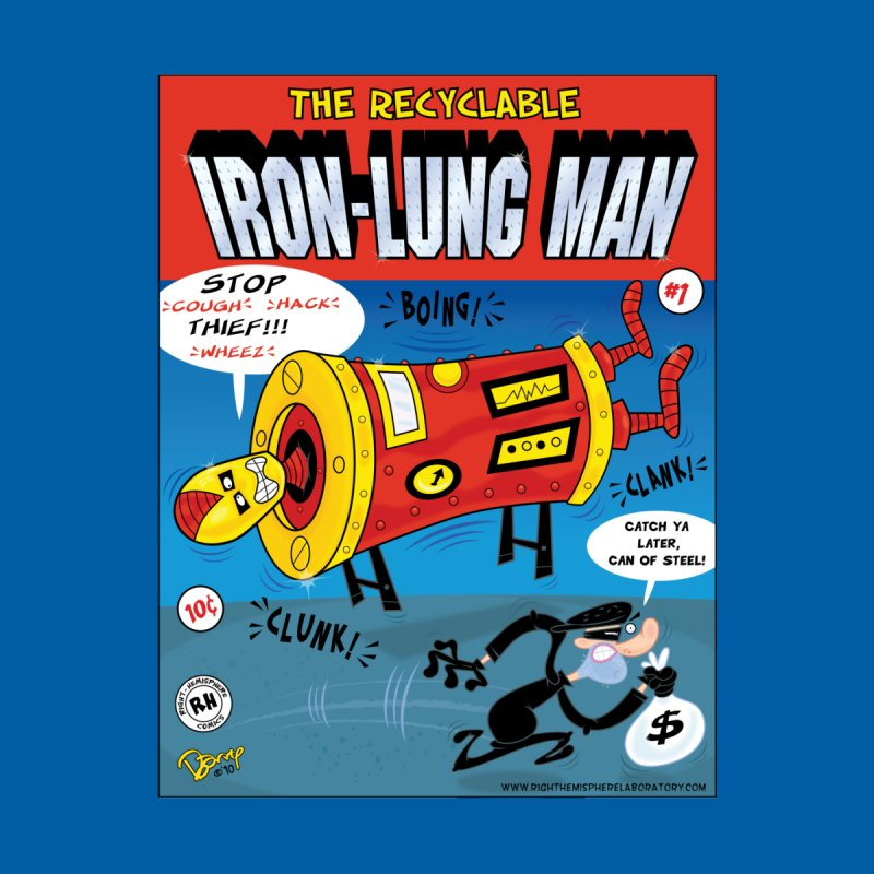 Iron-Lung Man Home Stretched Canvas by righthemispherelaboratory's Shop