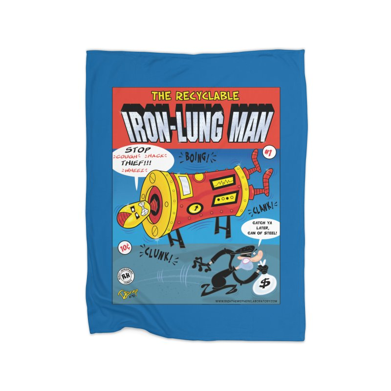 Iron-Lung Man Home Fleece Blanket Blanket by righthemispherelaboratory's Shop