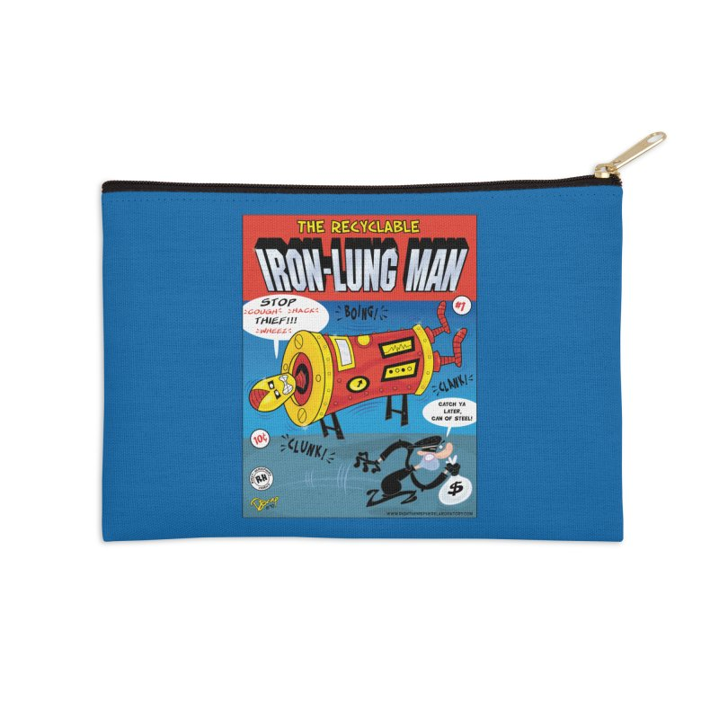Iron-Lung Man Accessories Zip Pouch by righthemispherelaboratory's Shop