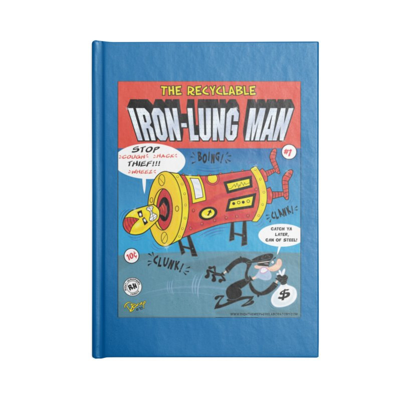 Iron-Lung Man Accessories Blank Journal Notebook by righthemispherelaboratory's Shop
