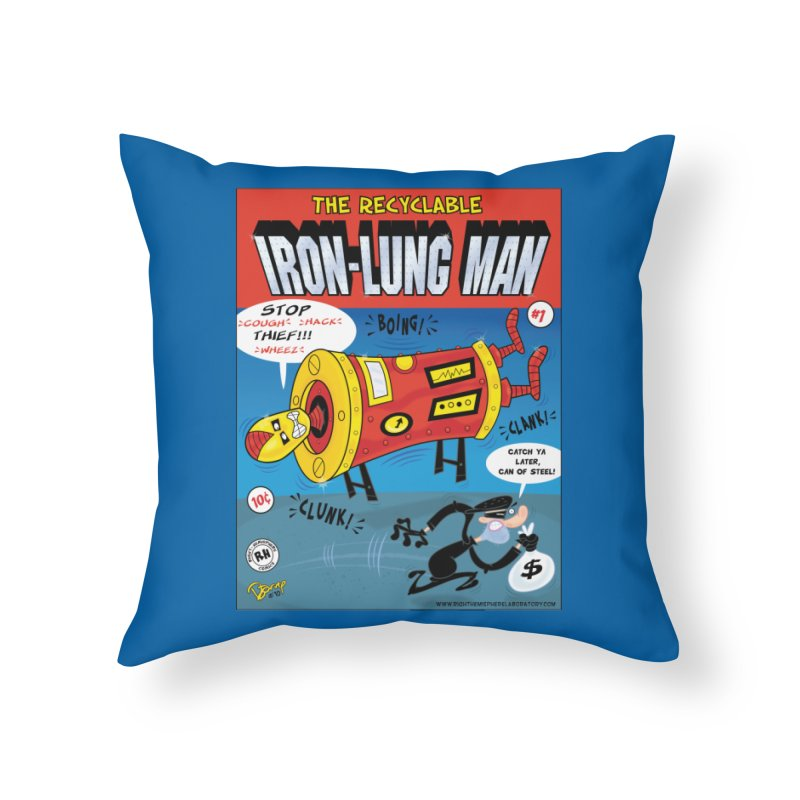 Iron-Lung Man Home Throw Pillow by righthemispherelaboratory's Shop