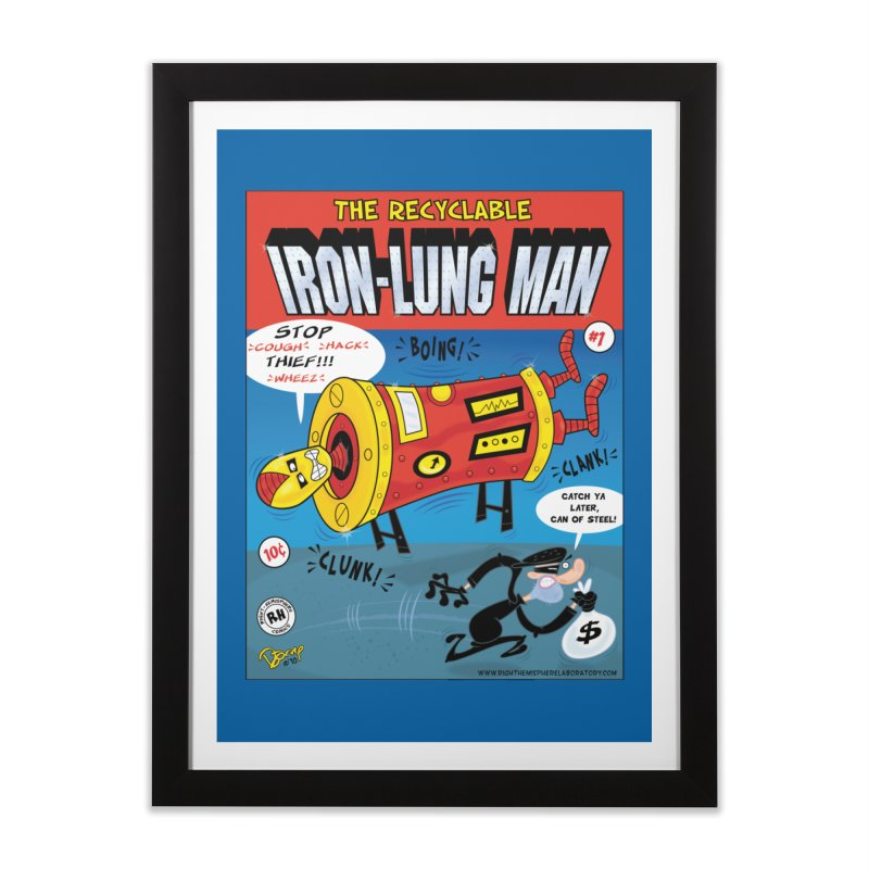 Iron-Lung Man Home Framed Fine Art Print by righthemispherelaboratory's Shop